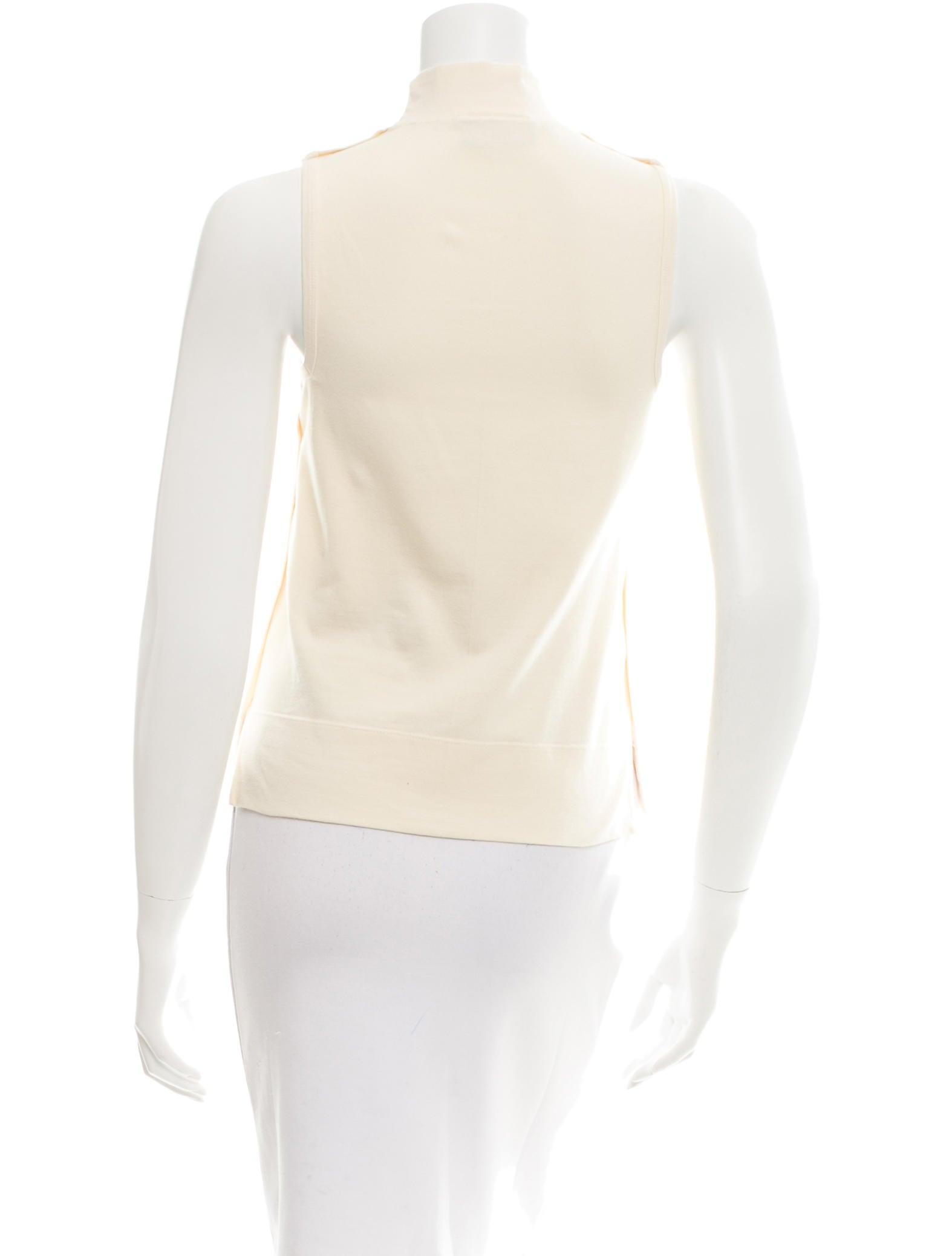 Fendi Sleeveless Mock Neck Top Clothing Fen47555 The