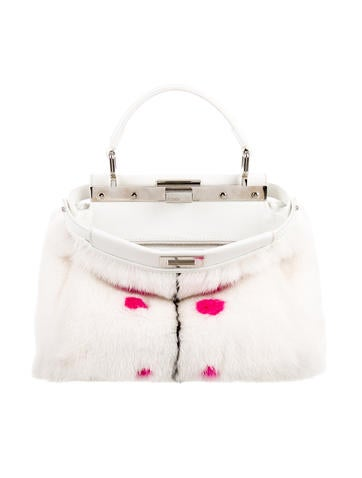 Mini Mink Dotted Peekaboo Bag