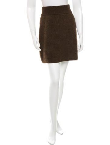Fendi Wool Mini Skirt w/ Tags None