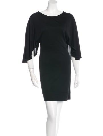 Fendi Cape Sleeve Cocktail Dress