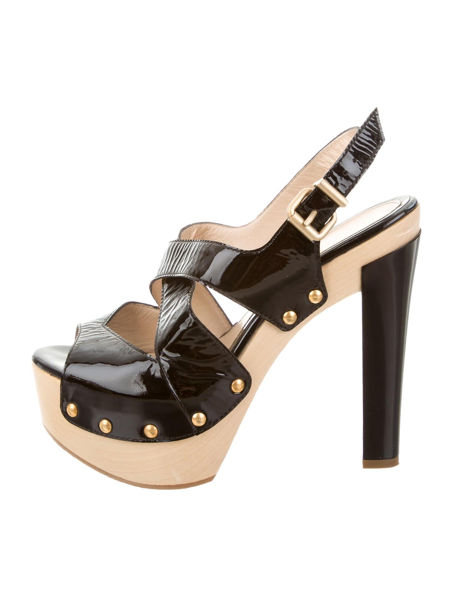 fendi patent leather platform sandals shoes fen47856
