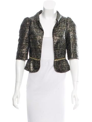 Fendi Cropped Tweed Jacket None