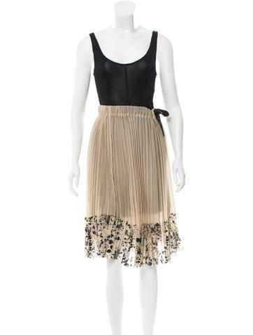 Fendi Knit Pleated Dress