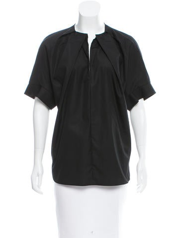 Fendi Draped V-Neck Top w/ Tags
