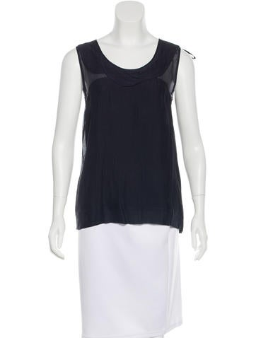 Fendi Silk Crepe Top None