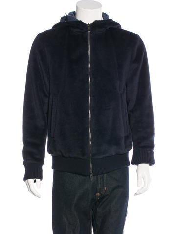 Fendi Alpaca Hooded Jacket None