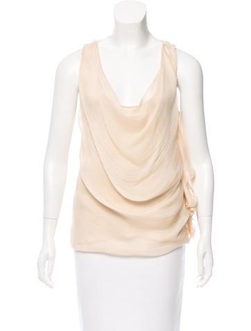 Fendi Silk Draped Top None