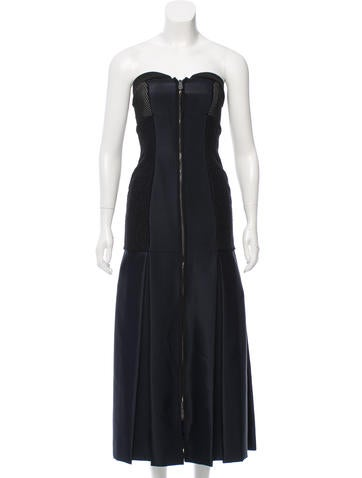 Fendi Wool-Accented Evening Dress None