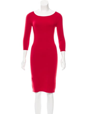 Fendi Wool Bodycon Dress w/ Tags None