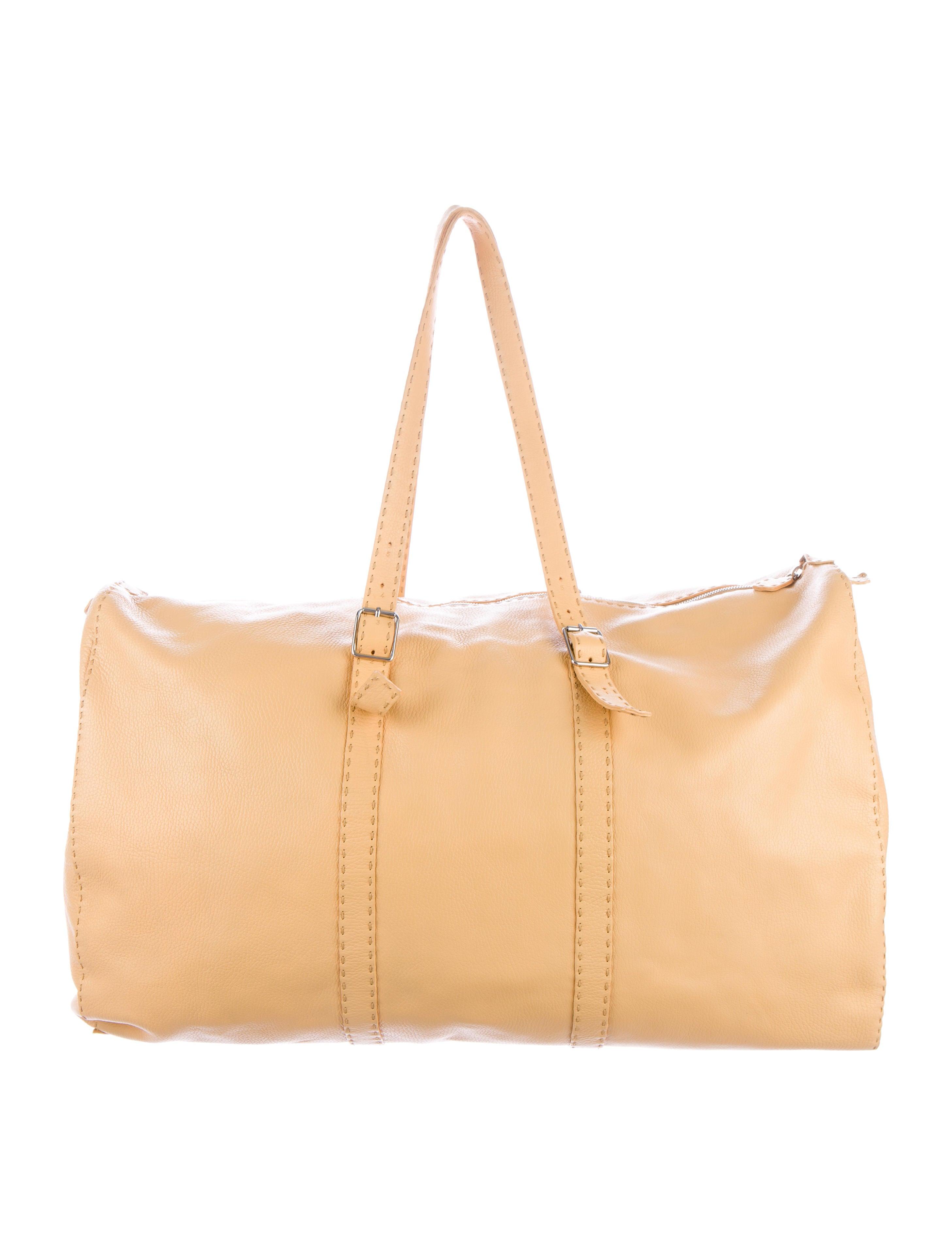 26afc0aaba07 Fendi Selleria Leather Weekender - Handbags - FEN48888