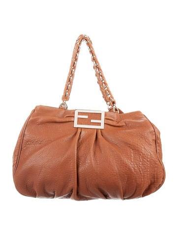 Fendi Leather Mia Agnello Bag None