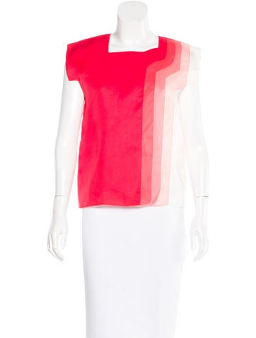 Fendi Silk Layered Top None
