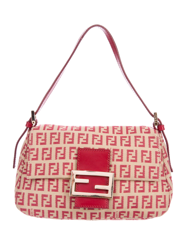 f9daf3ddc37ba Fendi Zucchino Mini Mama Bag - Handbags - FEN49214