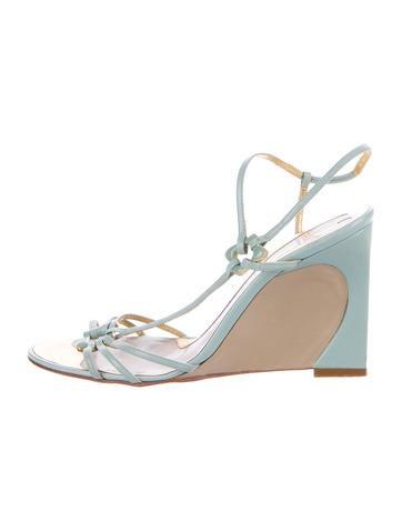 Fendi Colorblock Wedge Sandals None
