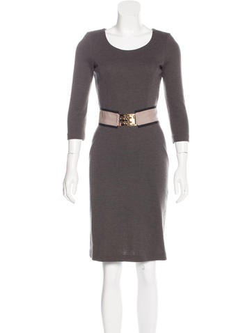 Fendi Wool Bodycon Dress None