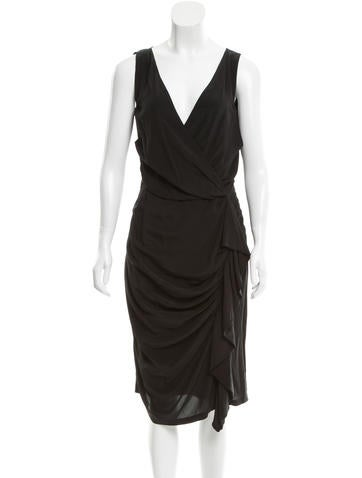 Fendi Ruched-Accented Silk Dress w/ Tags None