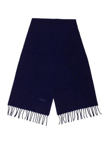Fendi Fringe Wool Scarf None