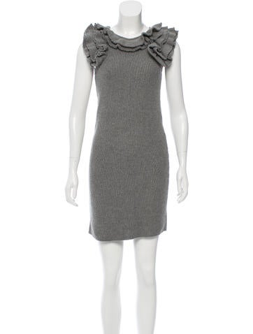 Fendi Mini Wool Dress None