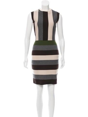 Fendi Wool Striped Dress None