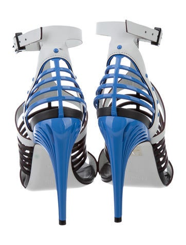 Leather Cage Sandals