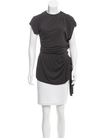 Fendi Button-Accented Draped Top None