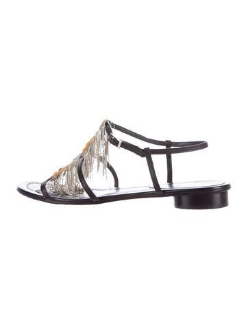 Fendi Chain-Link Fringed Sandals None