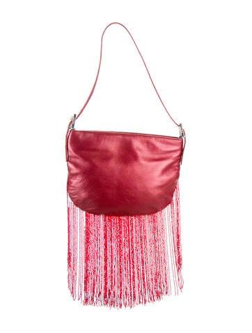 Fendi Beaded Fringe Shoulder Bag None