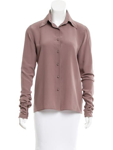 Fendi Silk Button-Up Top None