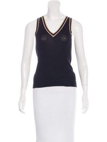 Fendi V-Neck Knit Top None