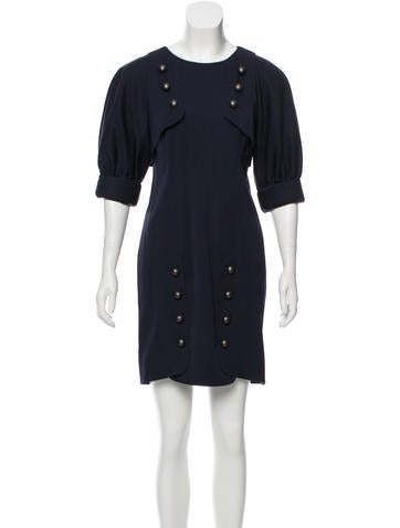 Fendi Wool Layered Dress None
