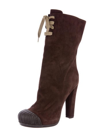100% authentic clearance hot sale Fendi Corduroy Ankle Boots cheap sale websites order online OIWq19Fm