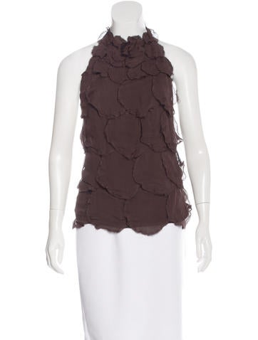 Fendi Silk Halter Top None