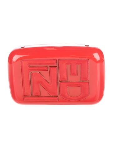 Fendi Logo Box Clutch None