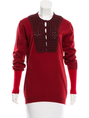 Fendi Cashmere Long Sleeve Sweater None