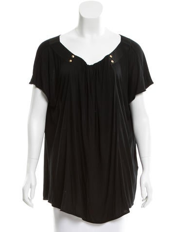 Fendi Short Sleeve Scoop Neck Top None