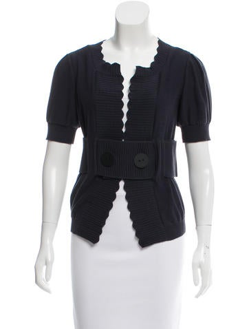 Fendi Knit Short Sleeve Cardigan None
