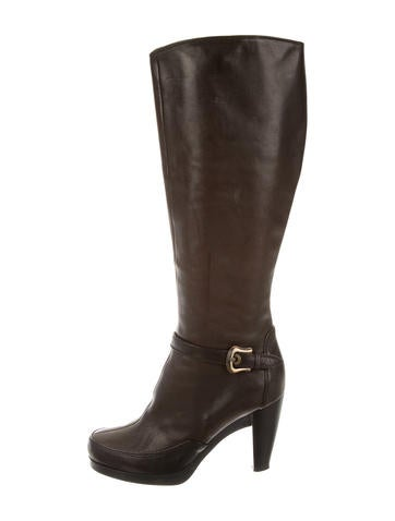Fendi Leather Knee-High Boots