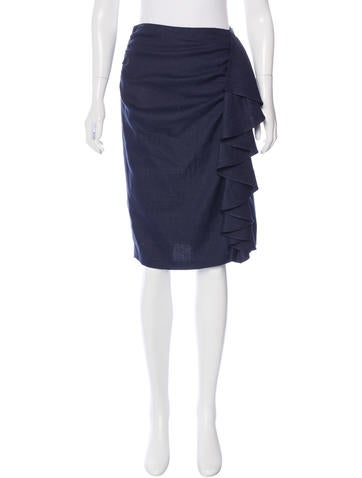 Fendi Knee-Length Ruched Skirt None
