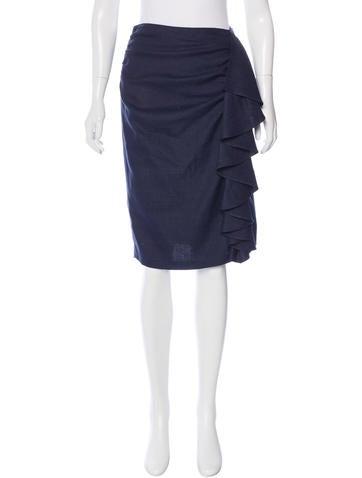 Fendi Knee-Length Ruched Skirt None