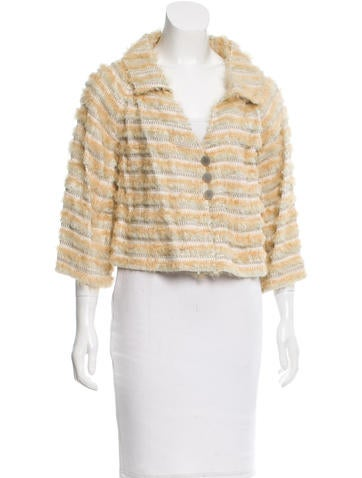 Fendi Silk Button-Up Jacket