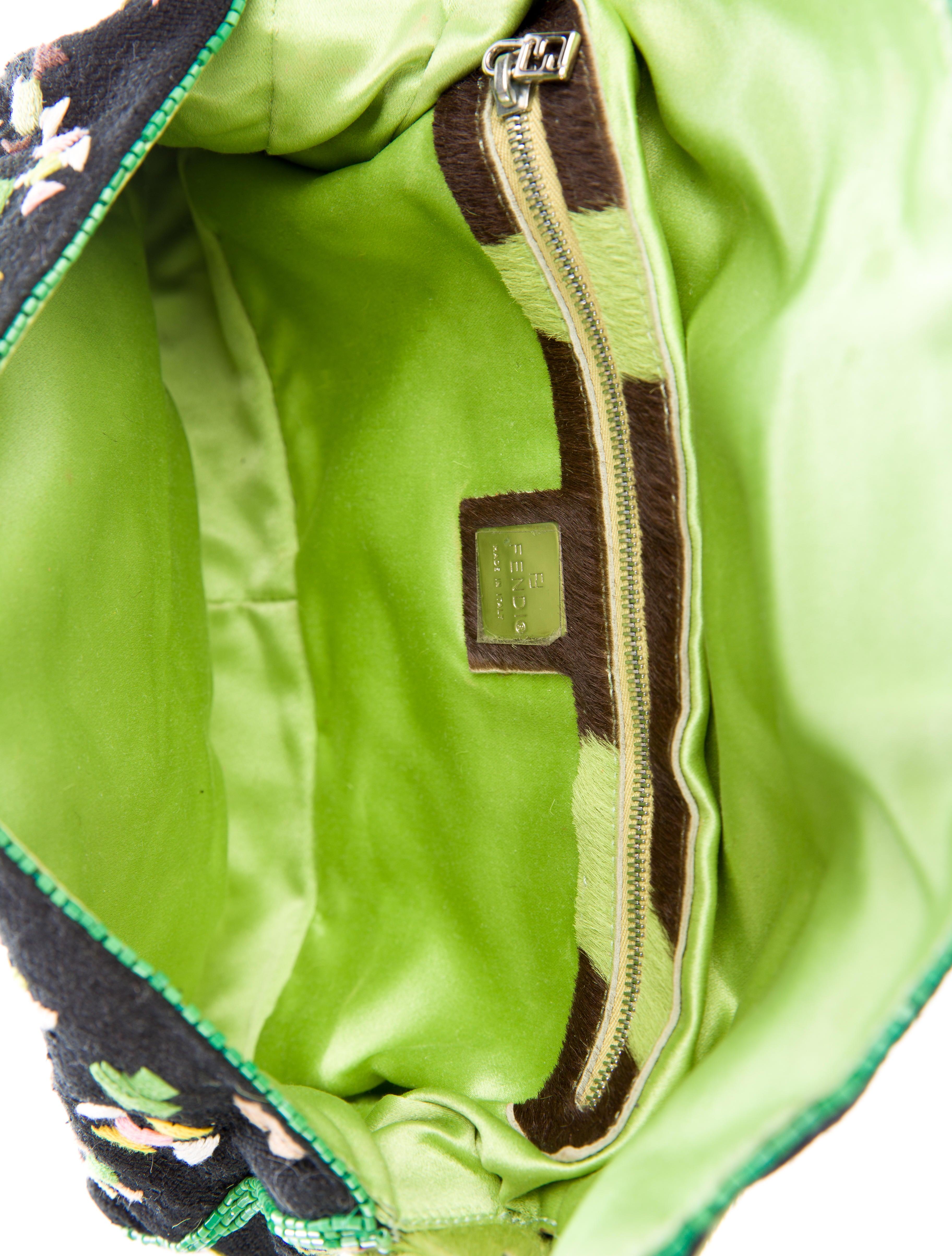 636e10b8029 Fendi Ponyhair-Trimmed Embellished Baguette - Handbags - FEN51198 ...