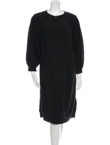Fendi Layered Knee-Length Dress None