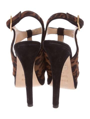 Ponyhair Platform Sandals
