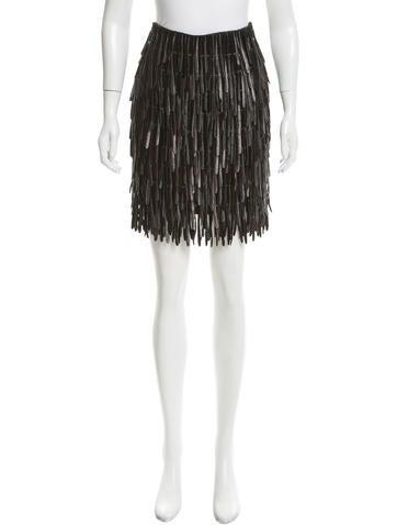 Fendi Wool Fringe Skirt w/ Tags None
