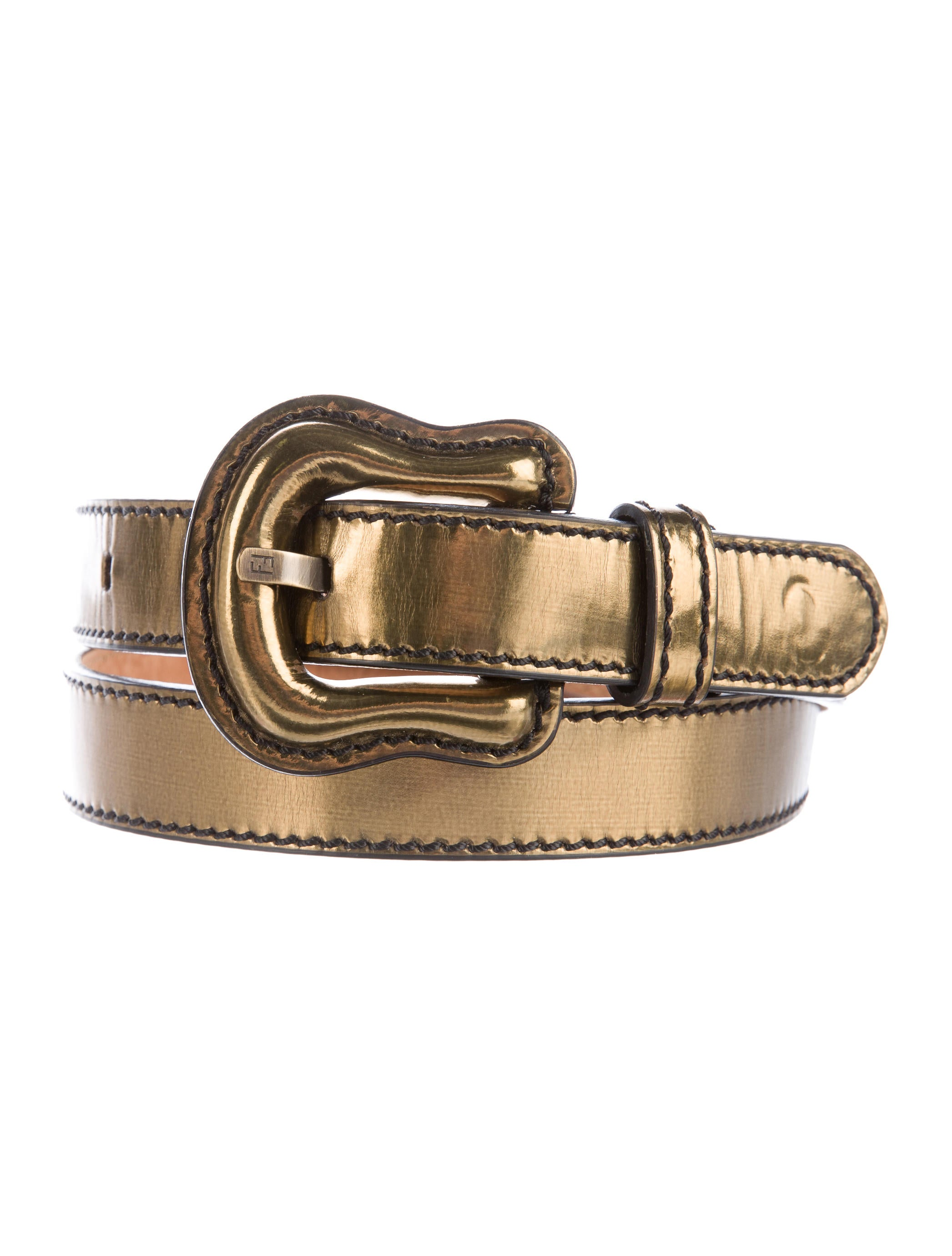 fendi metallic leather belt accessories fen52173 the