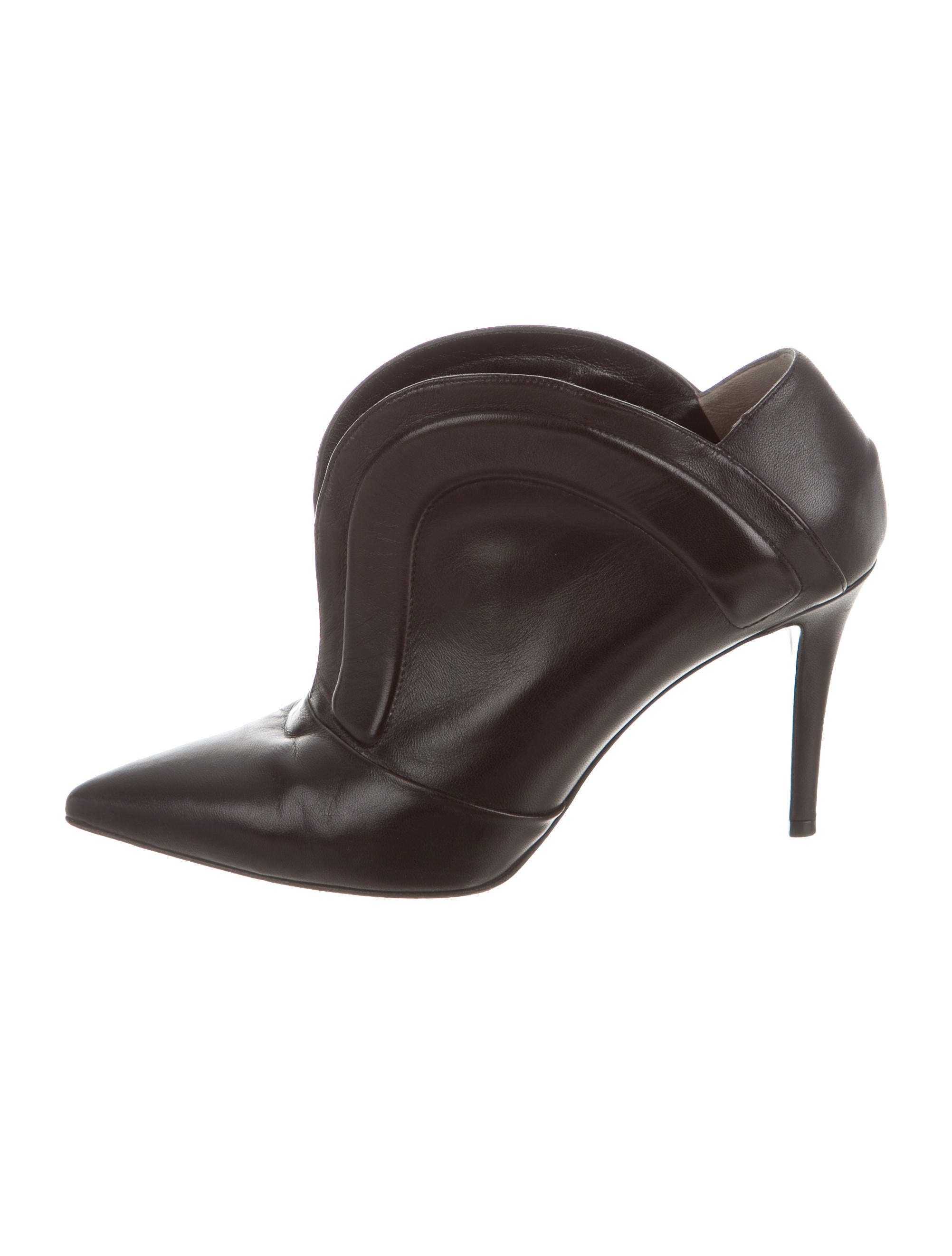 fendi leather pointed toe ankle boots shoes fen52311