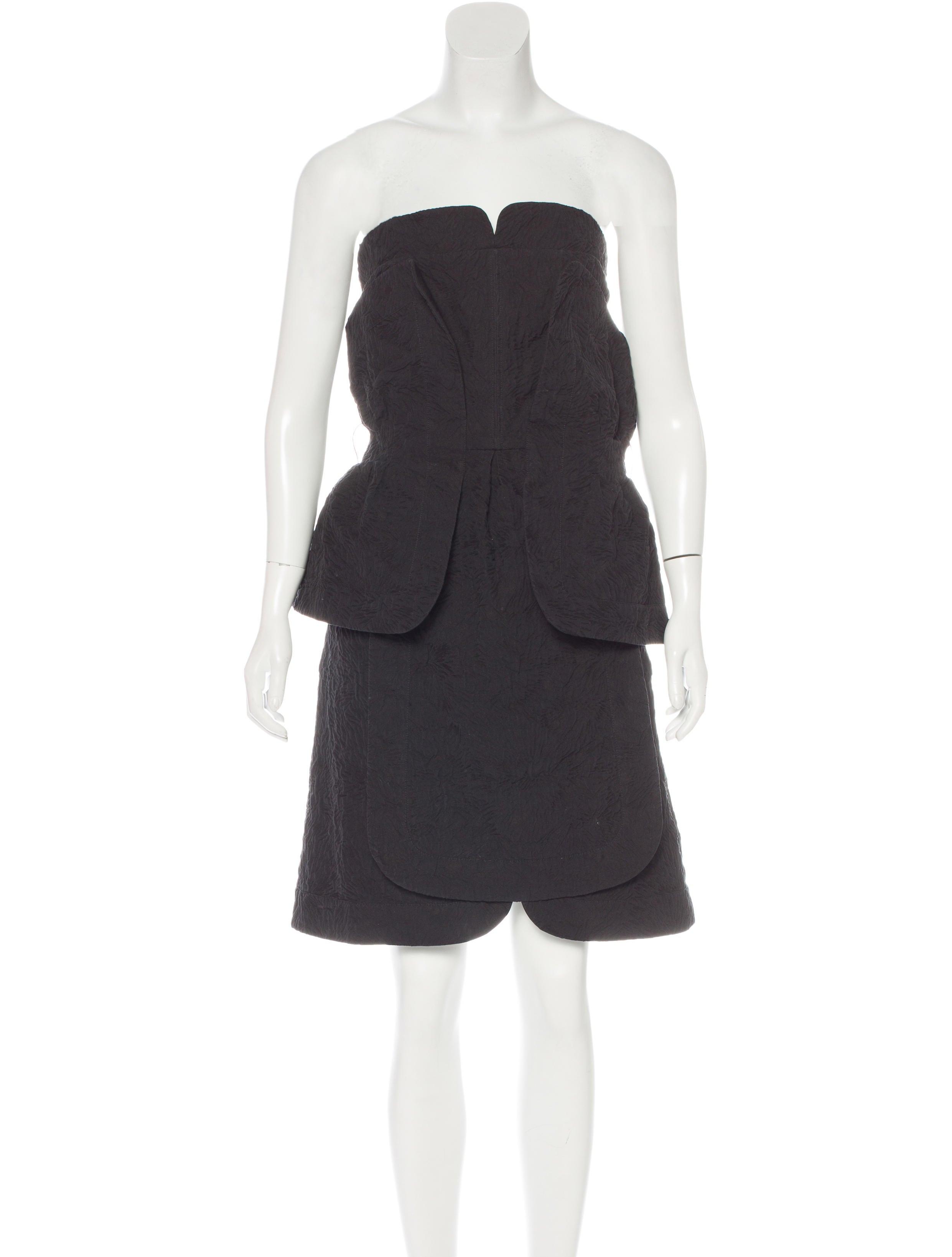 fendi strapless peplum dress clothing fen52390 the