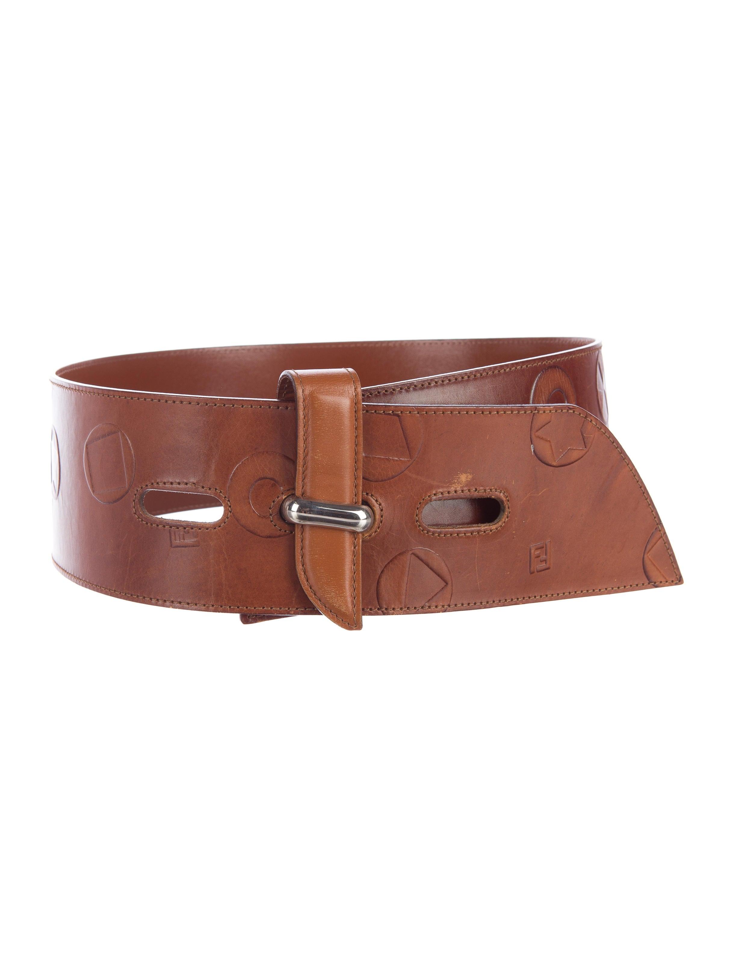 fendi leather embossed belt accessories fen52400 the