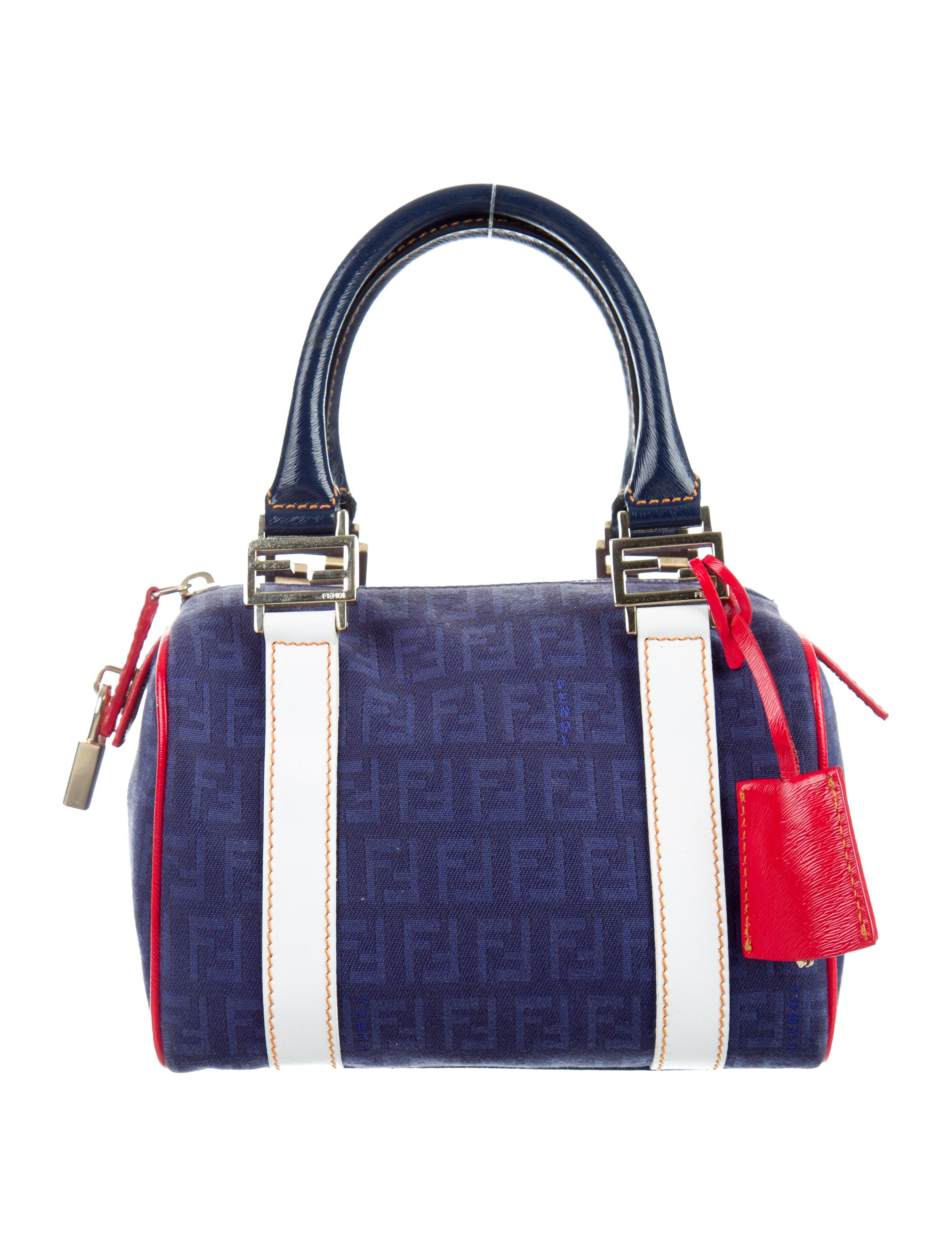 Boston Bag Patchwork Tutorial: Fendi Zucchino Mini Boston Bag - Handbags - FEN52475