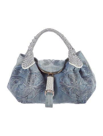 Embellished Squirrel Denim Spy Bag